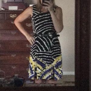 Nine West black multi colored dress